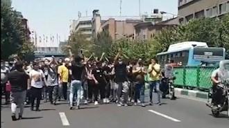 تظاهرات اعتراضی جوانان در خیابانهای تهران