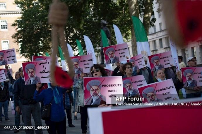 انعکاس تصویری خبرگزاری فرانسه از گردهماییهای جهانی علیه ابراهیم رئیسی در انگلستان - 8