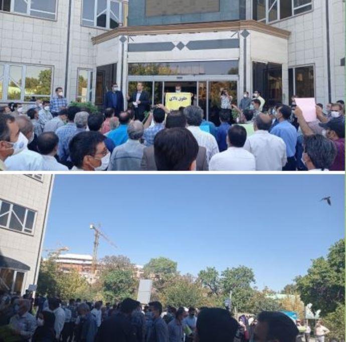 -تجمع اعتراضی معلمان همدان - اول مهر۱۴۰۰