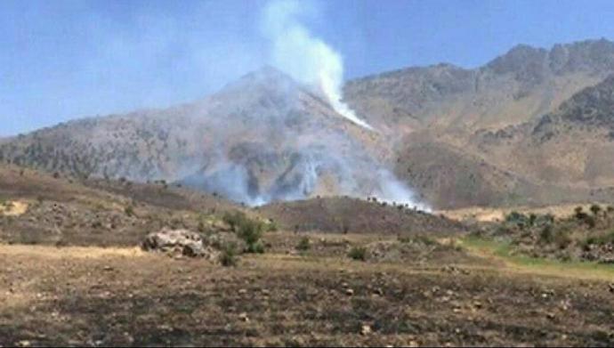 توپباران خاک اقلیم کردستان توسط رژیم جنایتکار آخوندی