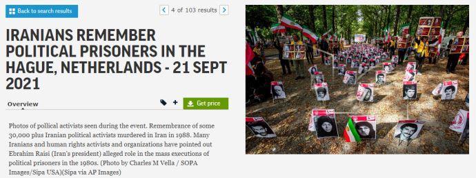 گزارش تصویری آسوشیتدپرس از تظاهرات ایرانیان آزاده در هلند -لاهه بهمناسبت گرامیداشت شهیدان قتلعام ۶۷ - 2
