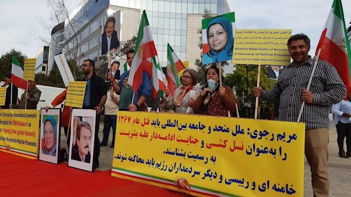 -بلژیک - آکسیون ایرانیان آزاده در بروکسل علیه آخوند جلاد رئیسی - 2