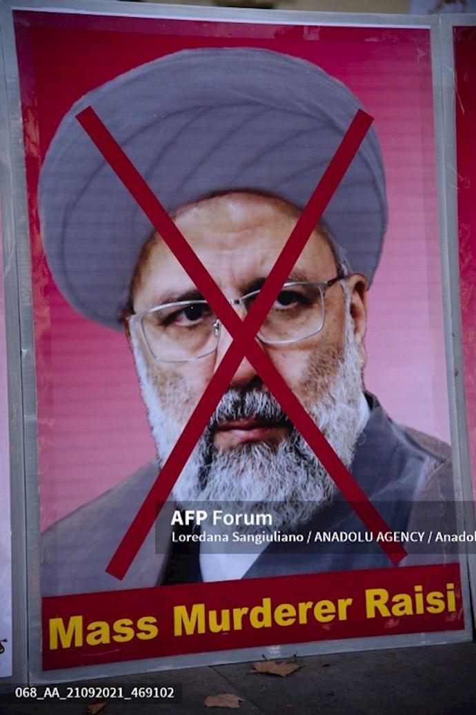 انعکاس تصویری خبرگزاری فرانسه از گردهماییهای جهانی علیه ابراهیم رئیسی در انگلستان - 19