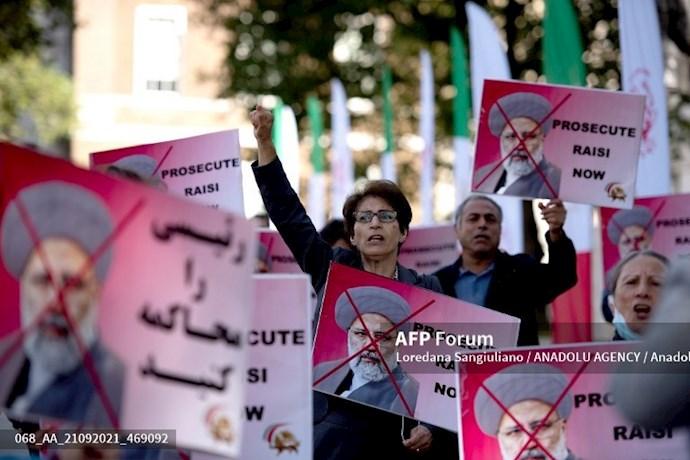 انعکاس تصویری خبرگزاری فرانسه از گردهماییهای جهانی علیه ابراهیم رئیسی در انگلستان - 14