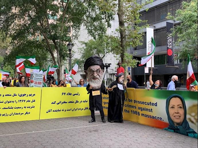 -آمریکا - آکسیون ایرانیان آزاده و هواداران سازمان مجاهدین علیه آخوند رئیسی - 1