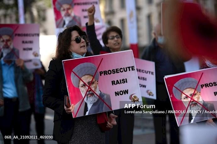 انعکاس تصویری خبرگزاری فرانسه از گردهماییهای جهانی علیه ابراهیم رئیسی در انگلستان - 13