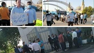 تجمعهای اعتراضی در کوت عبدالله، بندر خمینی و مجموعه ورزشی آزادی