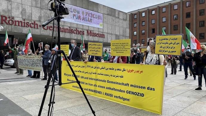 آلمان - آکسیون ایرانیان آزاده و هواداران سازمان مجاهدین در کلن