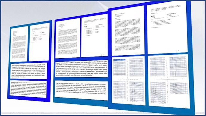 نامه ۱۶۰ تن زندانیان سیاسی از بند رسته از زندانهای رژیم خمینی و شماری از خانوادههایشان به رئیسجمهور آمریکا در مورد رئیسی جلاد۶۷