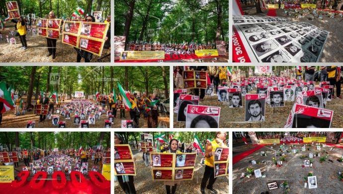 گزارش تصویری آسوشیتدپرس از تظاهرات ایرانیان آزاده در هلند -لاهه