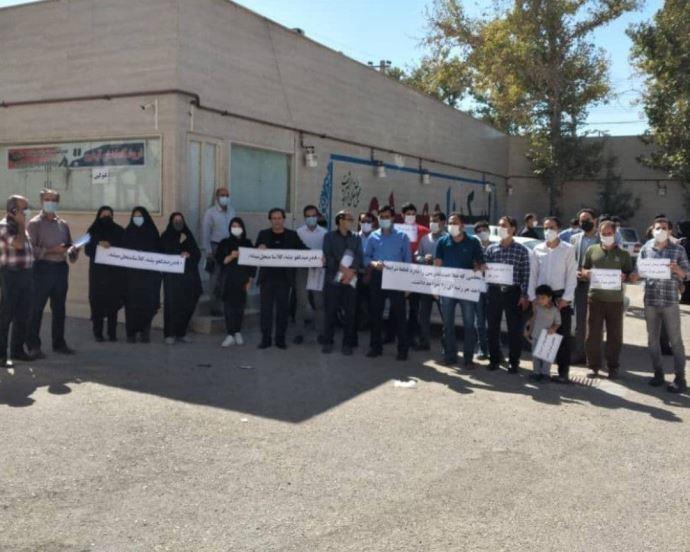 -تجمع اعتراضی معلمان کوهدشت- اول مهر۱۴۰۰