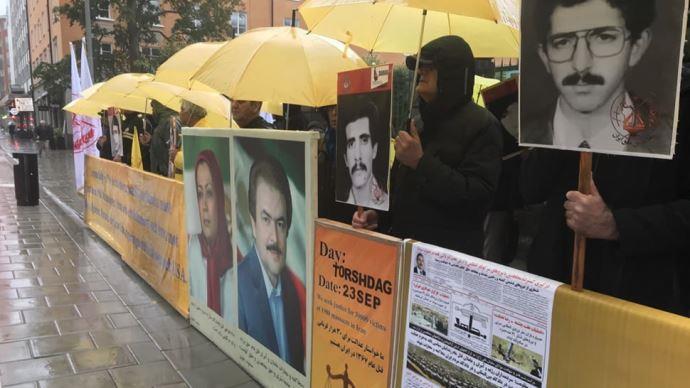 تظاهرات ایرانیان آزاده در مقابل دادگاه دژخیم حمید نوری