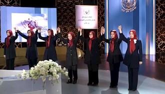 مراسم انتخاب مسئول اول در اجتماع مجاهدین در پنجاه و هفتمین سال تأسیس سازمان