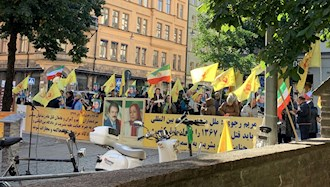 تظاهرات ایرانیان آزاده و هواداران مجاهدین در استکهلم سوئد - دادخواهی قتلعام شدگان۶۷ - ۲۳شهریور