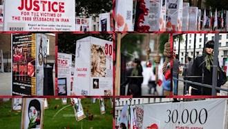 تصاویری از تظاهرات ایرانیان آزاده در لندن در اعتراض به قتلعام سال۶۷