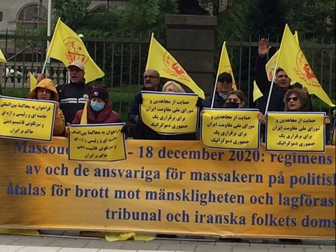 -تظاهرات ایرانیان آزاده و هواداران سازمان مجاهدین در دادخواهی قتلعام شدگان ۶۷ در سوئد - 1