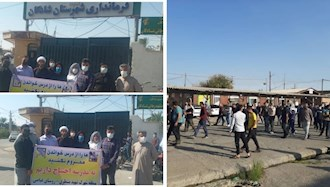 تجمع اعتراضی کارگران هفت تپه و  اهالی روستای غیاضی