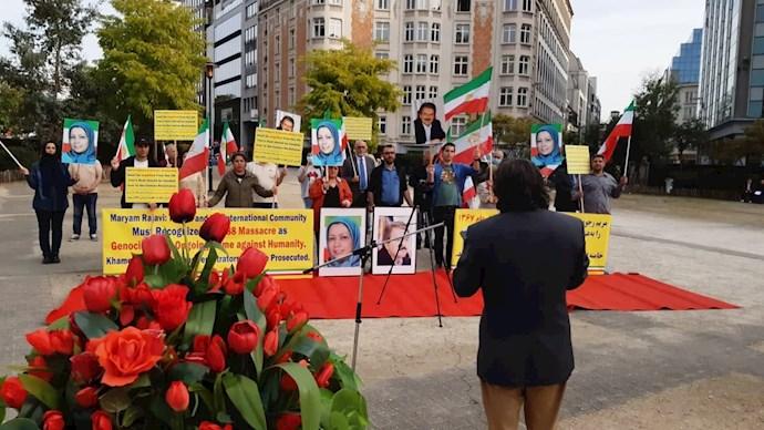 -بلژیک - آکسیون ایرانیان آزاده در بروکسل علیه آخوند جلاد رئیسی - 1