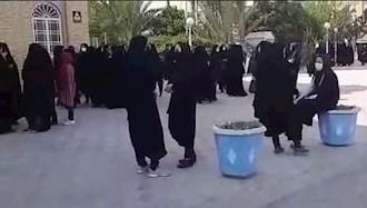 تجمع اعتراضی معلمان خرید خدمات یزد