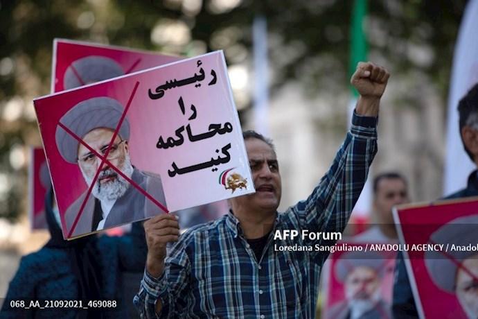انعکاس تصویری خبرگزاری فرانسه از گردهماییهای جهانی علیه ابراهیم رئیسی در انگلستان - 12